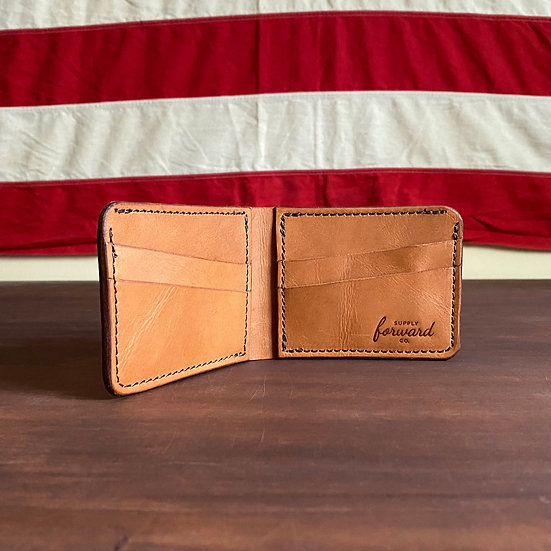 HIDDEN POCKET BIFOLD - English Tan