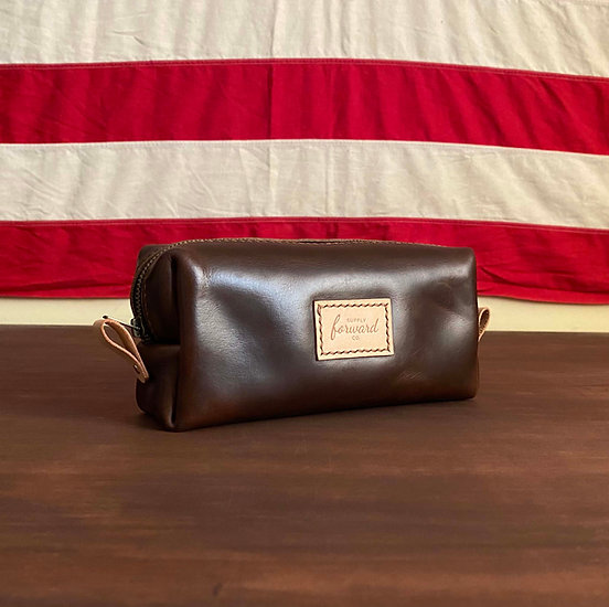 SLIM DOPP KIT - Brown