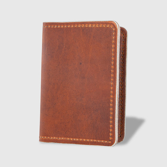 THE PASSPORT WALLET - English Tan