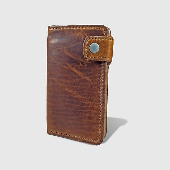 THE MID WALLET - English Tan