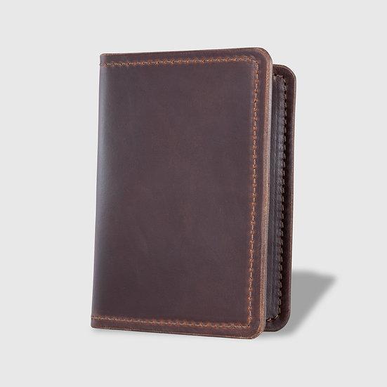 THE PASSPORT WALLET - Brown