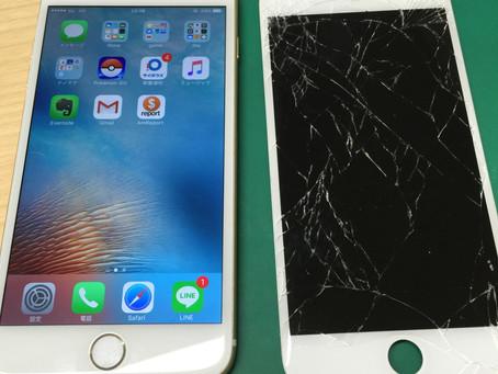 <修理事例> iPhone6Plus ガラス割れ