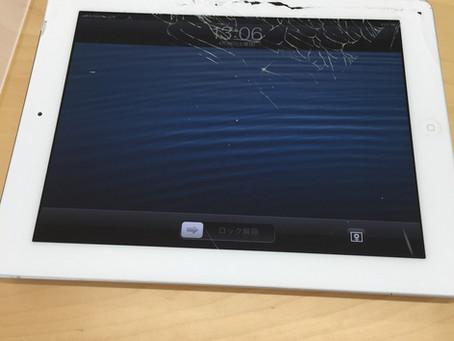 <修理事例> iPad4 ガラス割れ
