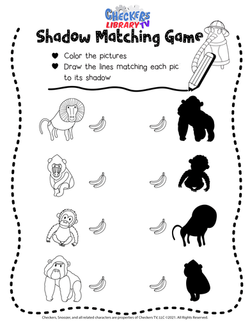 Tropical ape matching game