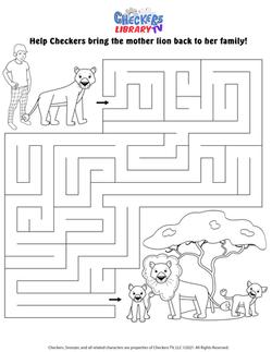 Savanna lions maze