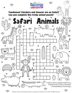 Savanna safari word search