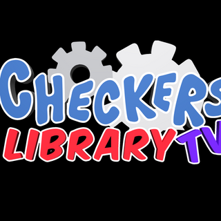 Checkers Library tv 3d logo black back.p
