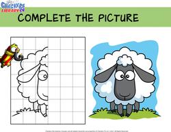 Farm draw sheep