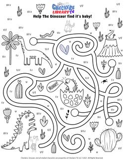 Extinct dinosaur maze 2