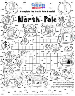 Artic animal word search north pole