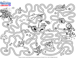 Ocean buried treasure maze