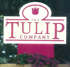 The Tulip Company sign at their entrance in Terre Haute, Indiana