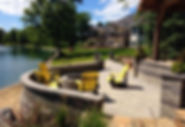 Stone Creek paver patio with fire pit
