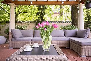 Outdoor living design by The Tulip Company garden center