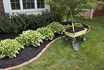 Hardwood mulch installation at The Tulip Company garden center