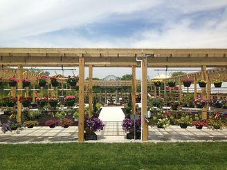 The Tulip Company's newly built outdoor garden center located in Terre Haute, Indiana.