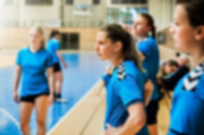 Vrouw handbal team