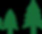 Grupo de árboles de pino