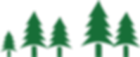 Cluster von Pine Trees