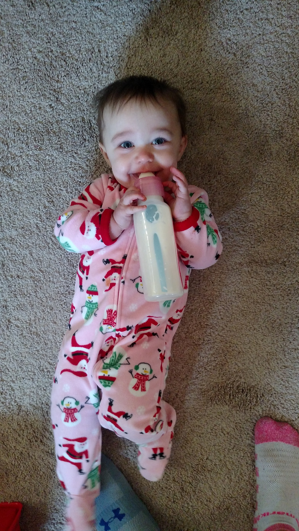 Olivia is sticking with the bottle!