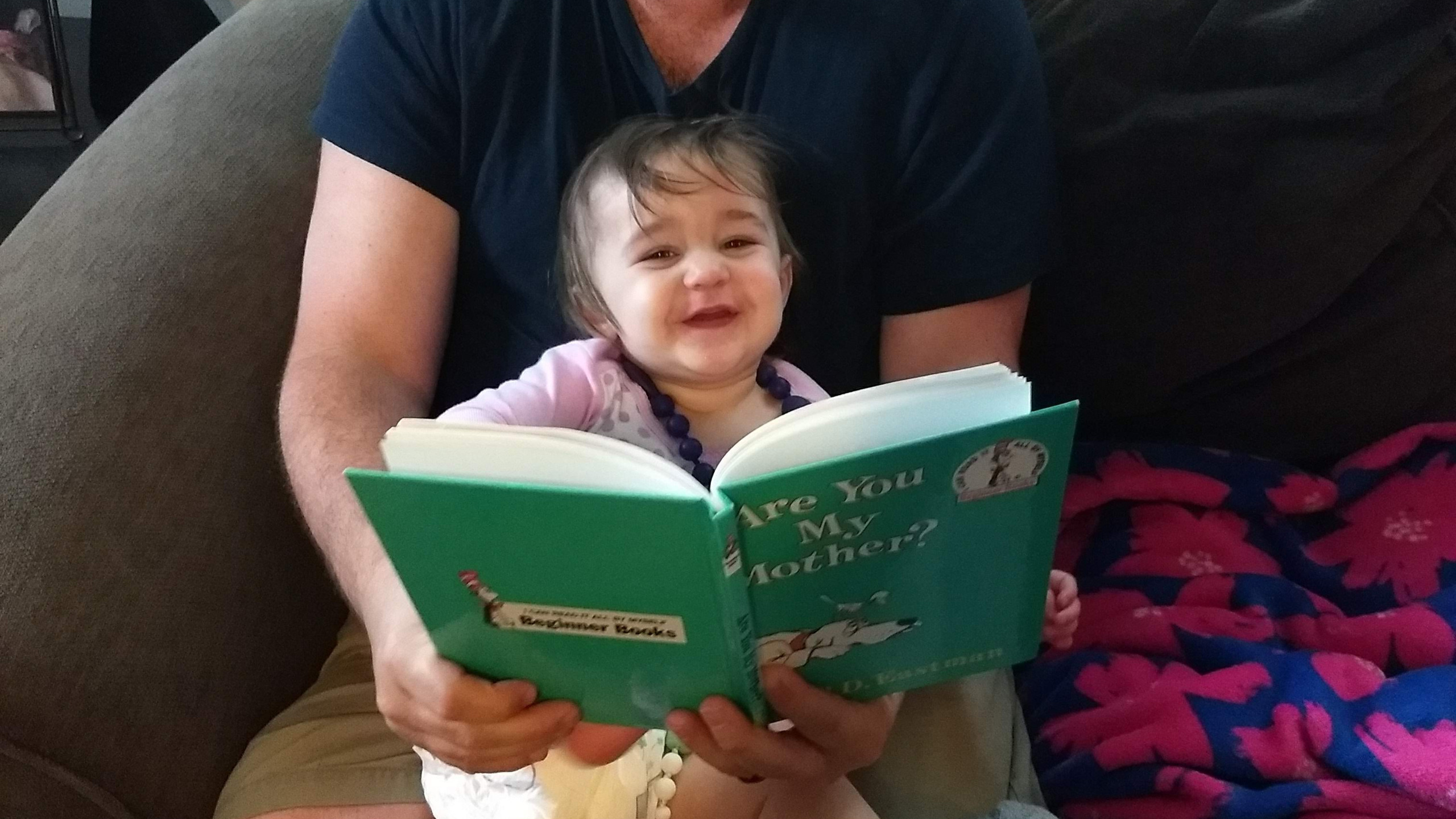 Daddy gets story time