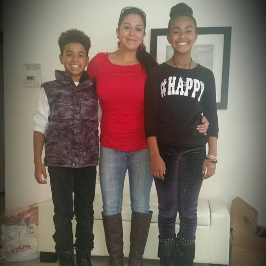 Crystal & Her Kids Jordan & Jada