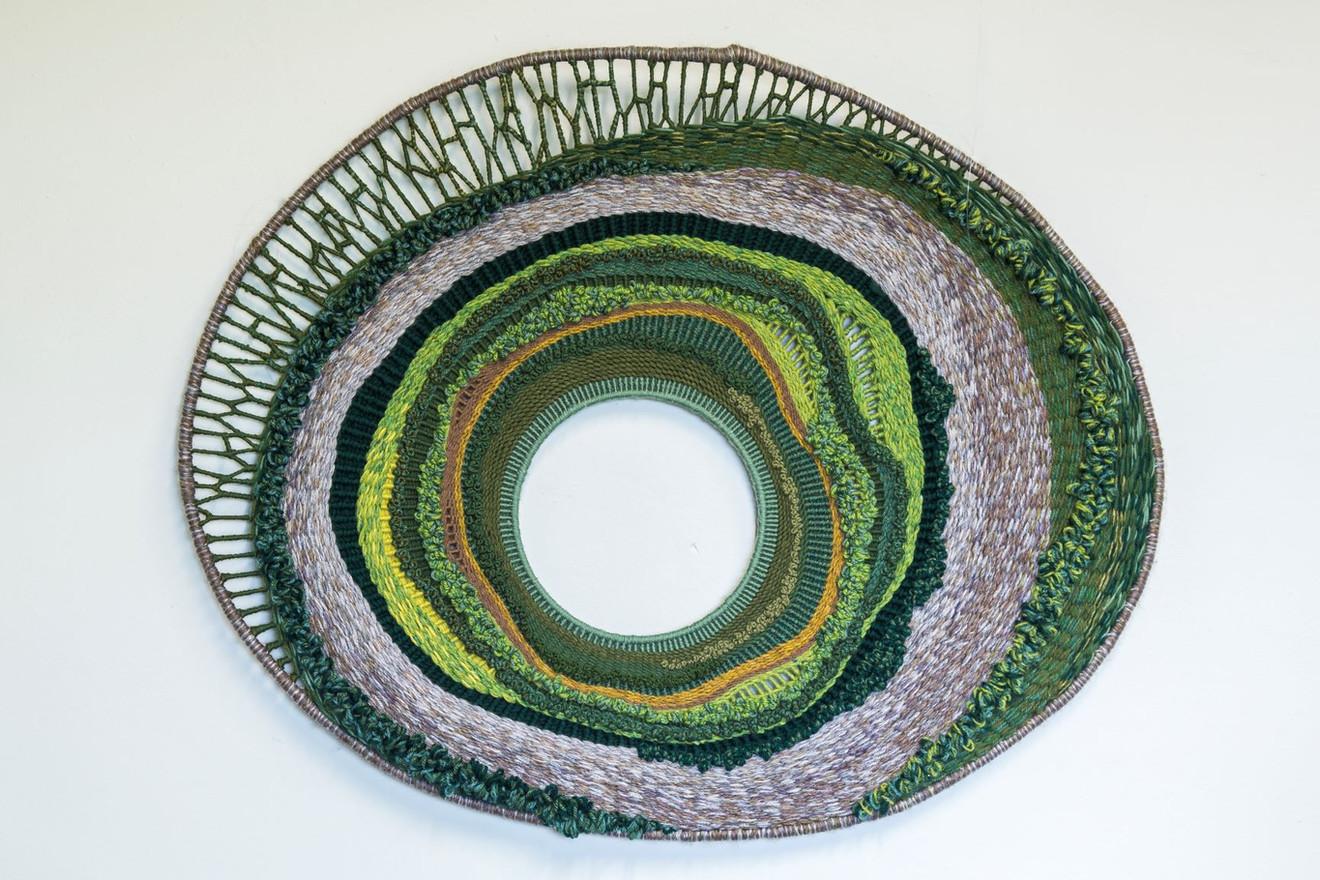 "Ann Mechelinck  'Enhanced' (2020) Textiles 80 x 64cm (31 x25"")"
