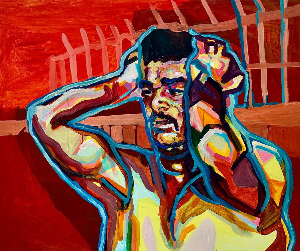 "Imogen Knight 'LEBANON' (2020) Acrylic on canvas 100 x 120cm (40 x 48"")"