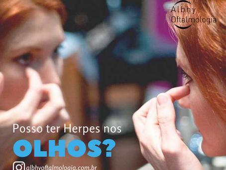 Posso ter Herpes nos olhos??