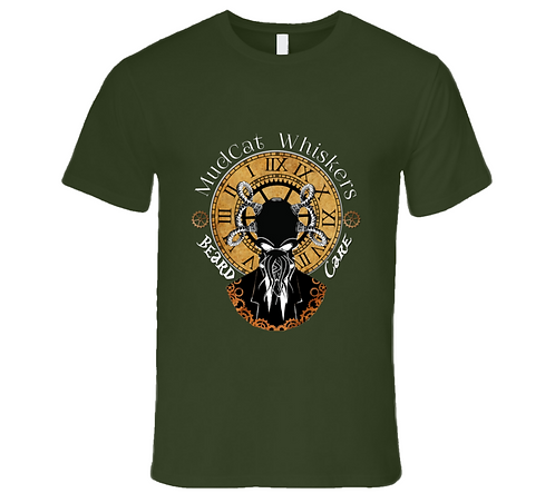 MudCat Whiskers Military Green T-shirt