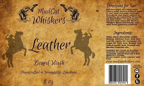 Leather Beard Wash Combo