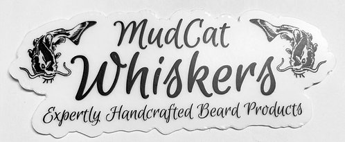 MudCat Whiskers Clear Classic Logo Sticker