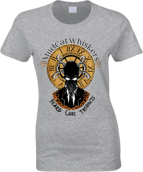 MudCat Whiskers Steampunk Ladies T-Shirt