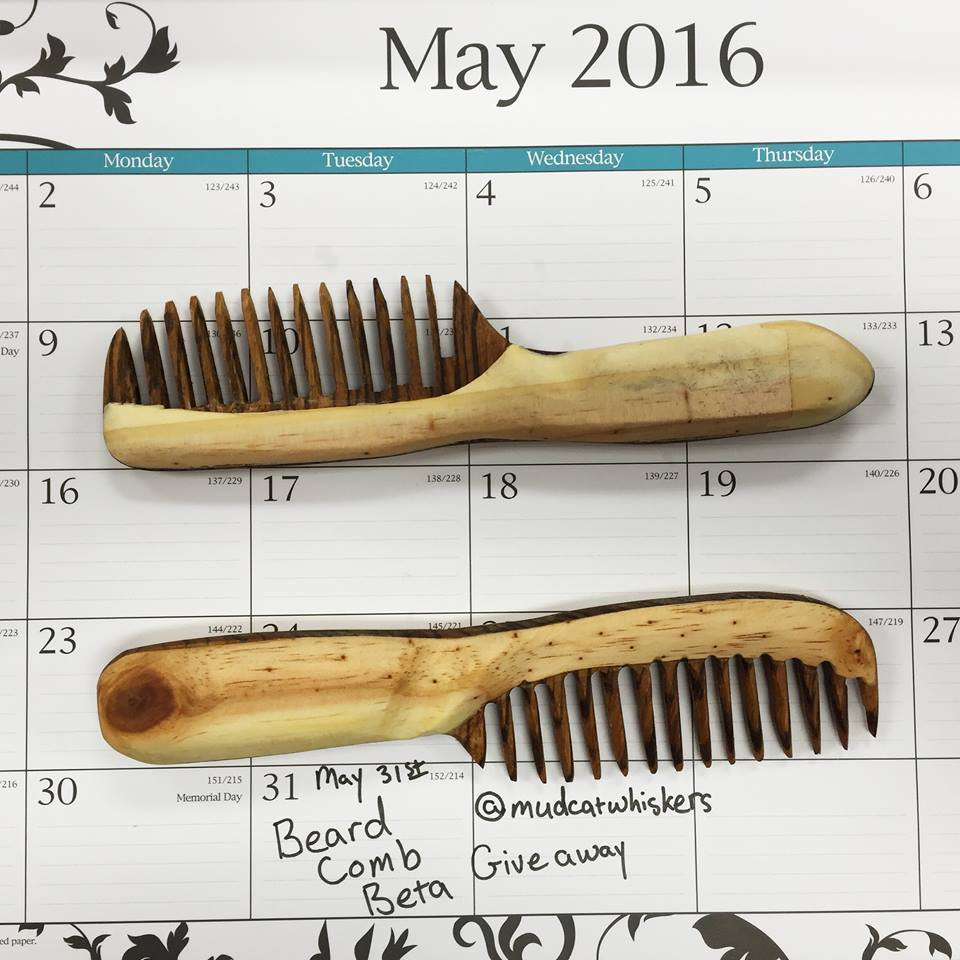 Beard Comb Give Away at the End of May