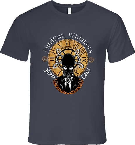 MudCat Whiskers Steampunk Premium Charcoal T-Shirt