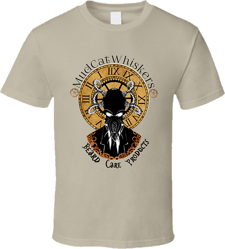 MudCat Whiskers Steampunk Tan T-Shirt