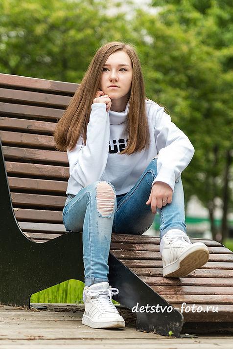 стритфото, портрет девушки