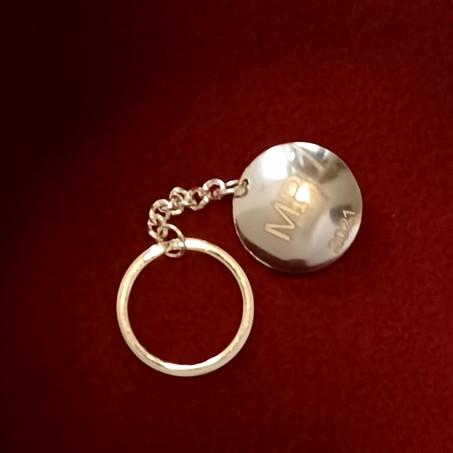 Stirling Silver Keyring