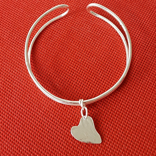 Childs Cuff with a Heart