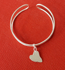 Silver Cuff with Heart