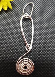 Spiral Hoops Dangly Earrings
