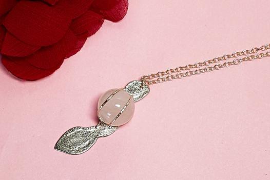 Rose Quartz Pod Necklace