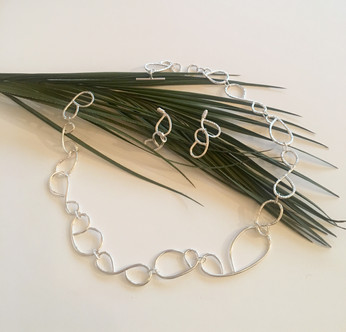 Wire Lace Necklace and Earrings