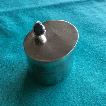 Small Oval Silver Box
