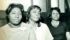 Date of Photograph: ca. 1966  Church secretaries of the Monument of Faith Deliverance Center.  Physical Attributes: Black and White (630 x 366 px; 96 dpi)  Photo Credit: Courtesy of R.D. Henton Breakthrough Ministries.  Monument of Faith Church on Racine   R.D. Henton Photo Library.