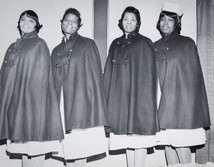 Date of Photograph: ca. 1960s  The first nurses board of the Monument of Faith Deliverance Center.  Physical Attributes: Black and White (4890 x 3812 px; 96 dpi)  Photo Credit: Courtesy of R.D. Henton Breakthrough Ministries.  Monument of Faith Church on Racine   R.D. Henton Photo Library.