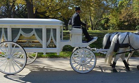 apostle henton horse drawn carriage processional