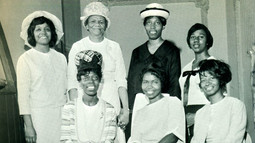 Date of Photograph: ca. 1966  The Soul Winners Class of the Monument of Faith Deliverance Center.  Physical Attributes: Black and White (1304 x 732 px; 96 dpi)  Photo Credit: Courtesy of R.D. Henton Breakthrough Ministries.  Monument of Faith Church on Racine   R.D. Henton Photo Library.
