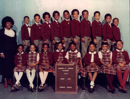 Date of Photograph: ca. 1984  R.D. Henton Academy room 206 class photo.  Physical Attributes: Color (2221 x 1700 px; 96 dpi)  Photo Credit: Courtesy of R.D. Henton Breakthrough Ministries.  R.D. Henton Academy | R.D. Henton Photo Library