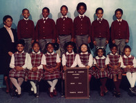 Date of Photograph: ca. 1984  R.D. Henton Academy room 204 class photo.  Physical Attributes: Color (2190 x 1664 px; 96 dpi)  Photo Credit: Courtesy of R.D. Henton Breakthrough Ministries.  R.D. Henton Academy | R.D. Henton Photo Library